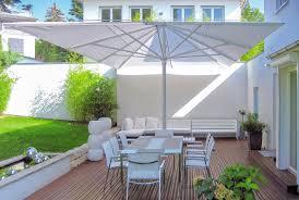 patio oversized patio umbrellas white square modern fabric
