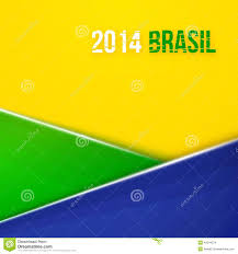 Geometric Flag Abstract Geometric Background With Brazil Flag Colors Vector