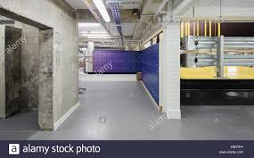 basement area with lockers and cycle ramp the alphabeta building