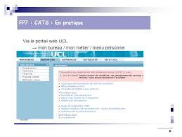 mon bureau ucl 24 novembre fp7 administration des finances utilisation du système