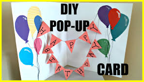 birthday decorations to make at home diy pop up birthday card youtube