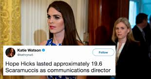 Internet Lies Meme - hope hicks resigns after admitting she tells white lies for trump
