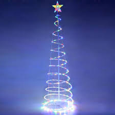 green spiral lighted tree amazon com yescom 6ft led spiral christmas tree light 182 bulbs