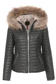 oakwood leather jacket with fur khaki