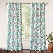 Teal Window Curtains Driftaway Drift Away Aubree Embroidered Jacquard Room