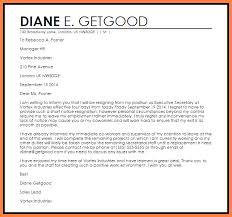 8 short notice resignation letter examples notice letter