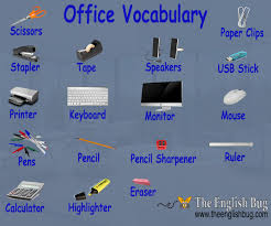 things for your desk at work vocabulary in the office the english bug