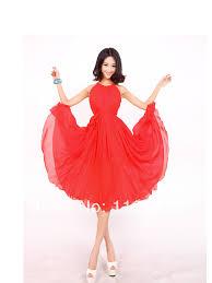 aliexpress com buy red knee length summer holiday beach maxi