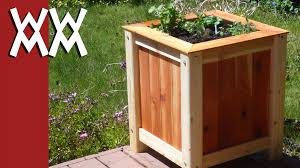 How To Build An Herb Garden Build An Easy Inexpensive Wood Planter Box Youtube