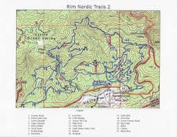 Bear Creek Trail Map Rim Nordic Mountain Bike Park
