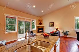 vaulted ceiling living room home office vaulted ceiling living room and kitchen craftsman