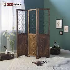 paravent chambre 3 pliez paravent bois chambre diviseur écran partition brun