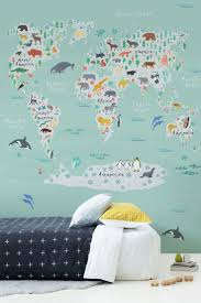 World Map Wallpaper by Best 25 Map Bedroom Ideas On Pinterest World Map Wall Room