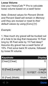 How To Calculate Cubic Yards Of Gravel Heavycalc Pro Feet Inch Cubic Yard Calculator On The App Store