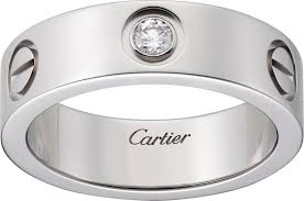 cartier platinum rings images Crb4046700 love ring 1 diamond platinum diamond cartier png
