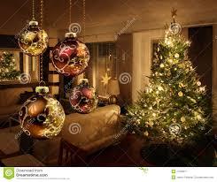 Christmas Livingroom Christmas Tree In Modern Living Room Stock Image Image 27038371