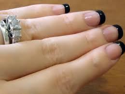 70 very stylish black french tip nail art design ideas