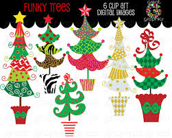 christmas clip art christmas funky tree clip art printable funky