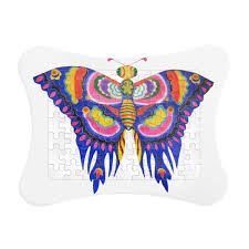 traditional kite butterfly pattern paper card puzzle frame
