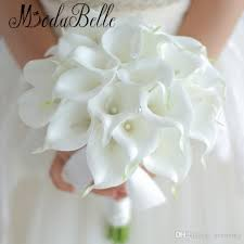 artificial wedding bouquets vintage 2018 custom white calla bouquet wedding flowers