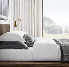 Restoration Hardware Belgian Opaque Linen Stonewashed Belgian Linen Bedding Collection