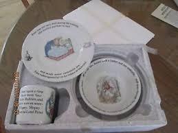 rabbit nursery set by wedgwood new wedgwood rabbit beatrix potter piggy bank money box