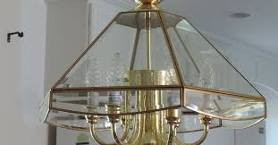 From A Chandelier Change A Chandelier From Brass To Chrome Hometalk