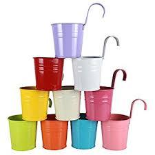 Flower Pot Holders For Fence - amazon com flower pots riogoo hanging flower pots garden pots