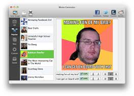 Facebook Meme Creator - create an intertubes sensation with meme generator mac appstorm