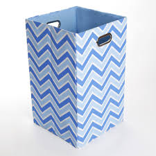 Canvas Laundry Hamper by Giggle Dots Sky Zig Zag Canvas Folding Laundry Basket
