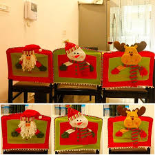 snowman chair covers santa claus snowman chair set christmas decoration family chair