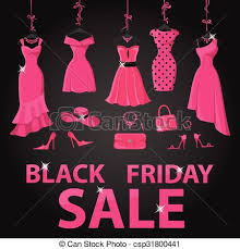 black friday pink eps vector of black friday sale pink party dresses accessories