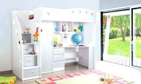 bureau surélevé lit mezzanine ado avec bureau et rangement lit sureleve bureau
