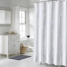 Vertical Striped Shower Curtain Grey Striped Shower Curtain Curtains Ideas