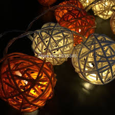 String Lights Balls by Aliexpress Com Buy Led Battery Rattan String Lights 20pcs