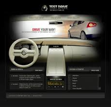 website template 9508 test drive car custom website template test