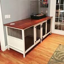 sale dog crate end table kennel pet cage wood indoor wooden