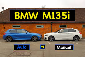 bmw m135i auto vs manual test review 2016 lci youtube