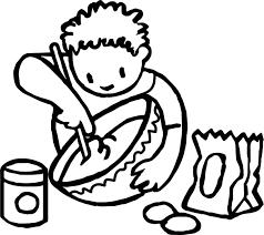 boy stirring coloring page wecoloringpage