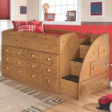 stages twin loft bed with right steps u0026 chest storage by signature