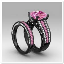 black and pink wedding rings black pink wedding rings jpg 591 591 clothes shoes and