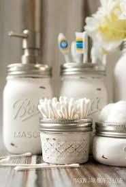 new mason jar bathroom accessories home design very nice interior