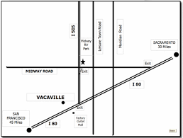 vacaville outlets map location contact midway rv park