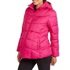 faded glory maternity hooded puffer coat walmart