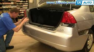how to install replace headlight and bulb honda civic sedan 01 03