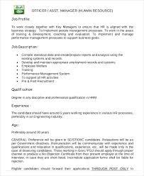 hr manager job description 6 free sample example format