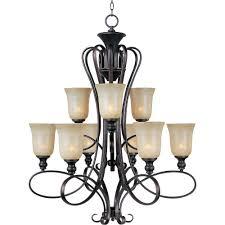 maxim lighting infinity 9 light oil rubbed bronze chandelier