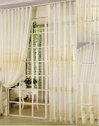 yellow sheer curtains