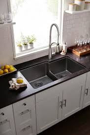 semi professional kitchen faucet gourmet quartz classic bowl undermount sink elgulbo3322 in