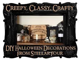 Diy Halloween Home Decor by Stellar Four Creepy Classy Crafty Diy Halloween Decorating
